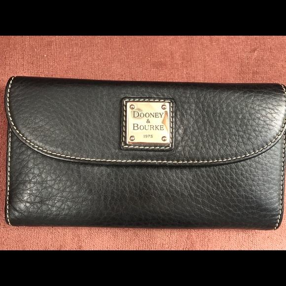 Dooney & Bourke Handbags - Dooney & Bourke Black Leather Wallet